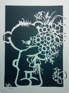 """- Всем добрый день! Вашему вниманию новая открытка которая порадует не только детей, но и взрослых.  - Эскиз был выполнен, изменён и доработан под """"вырезалку"""" по работе детского художника-иллюстратора Марины Федотовой.  - Размер 12х16см. фото 3"""