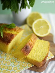 Bizcocho de limón y hierbabuena