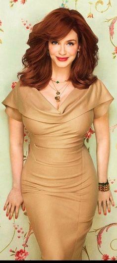 Christina Hendricks Shares Her Style Secrets : Lucky Magazine Christina Hendricks, Cristina Hendrix, Beautiful Christina, Simply Beautiful, Gorgeous Redhead, Up Girl, Real Women, Taurus, Her Style
