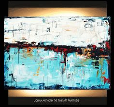 40 original creme/white redturquise abstract   by jolinaanthony, $329.00