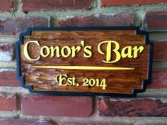 The Carving Company | Full Service Custom Carved Sign Shop | Custom carved Bar / Pub Sign (BP11)
