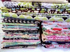Cotton Designer Fabric GRAB BAG of Scraps  Stash by QuiltingGarden, $4.00