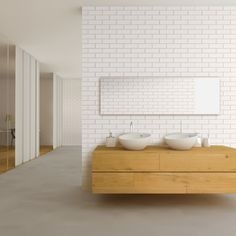 White Brick Tile Effect Panel Gloss Finish No Grout Required Flush Fitting Waterproof Class 1 Fire Rated Material - PVC Tongue & Groove Interlocking System Pvc Bathroom Panels, Bathroom Paneling, Bathroom Cladding, Shower Wall Panels, Wall Panelling, White Bathroom, Bathroom Wall, Bathroom Ideas, Neutral Bathroom