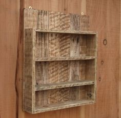 Rustic Spice Rack / Kitchen Shelf / Cabinet Made From Reclaimed Wood / Pallet Wood Storage