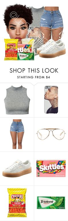 """Untitled #76"" by leshabest ❤ liked on Polyvore featuring Club L, CÉLINE, Puma and River Island"