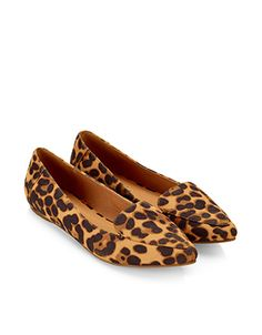 Cameron Leopard Pointed Slippers