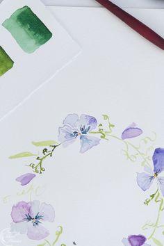 Viola watercolor wreath   Finding Silver Pennies #freeprintables #watercolor #spring #florals #violas #art Templates Printable Free, Printable Art, Free Printables, Wreath Watercolor, Watercolor Paintings, Watercolour Tutorials, Funky Junk, Free Stickers, Pennies