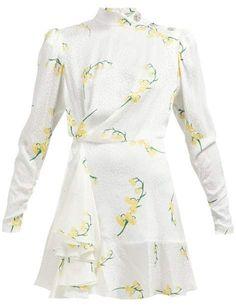 Beautiful Alessandra Rich Floral-print silk-devore mini dress Womens Clothing from top store Maude, Ladies Dress Design, Fashion Stylist, Boho Dress, Designer Dresses, Polyvore Fashion, Fashion Dresses, Maxi Dresses, Floral Prints