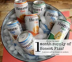 Free, healthy soda? YES PLEASE! Honest Tea is giving away a one-month supply of Honest Fizz to five lucky winners! Enter to win now (it's easy)!