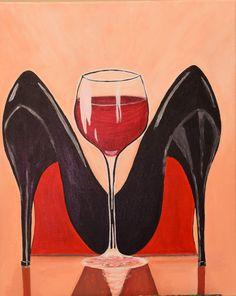 Sip and Paint Catalog - Art Fun Studio Canvas Painting Designs, Black Art Painting, Canvas Painting Tutorials, Wine Painting, Black Artwork, Painting Of Girl, Buddha Kunst, Buddha Art, Black Love Art