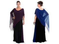 Siyah-Saks Mavi Büyük Beden Abiye AL6011F Ürünün Fiyatı: 359,90 TL