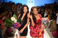 Designer Nicole Di Rocco and Christina Milian walk the runway at the Nicolita show during Mercedes-Benz Fashion Week Swim 2013 at The Raleigh on July 20, 2012 in Miami Beach, Florida | EventsNetwork