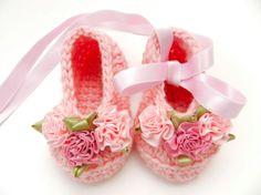 Spring Easter Baby Girl Crochet Ballet by ItsyBitsyBabyToes, $16.00