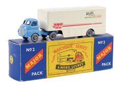 The Ron Calcott Matchbox Collection | Major Packs | Vectis Toy Auctions Matchbox Major Pack No.M2 Bedford Articulated Truck