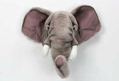 Pluche olifanten hoofd - EUR 53,95