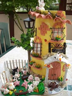 Fattoria Little Cottages, Gingerbread, Biscuits, Arts And Crafts, Decoupage, Wallpaper, Villas, House, Painting