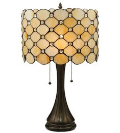 Giacomo Diamond Pattern Stained Glass Table Lamp