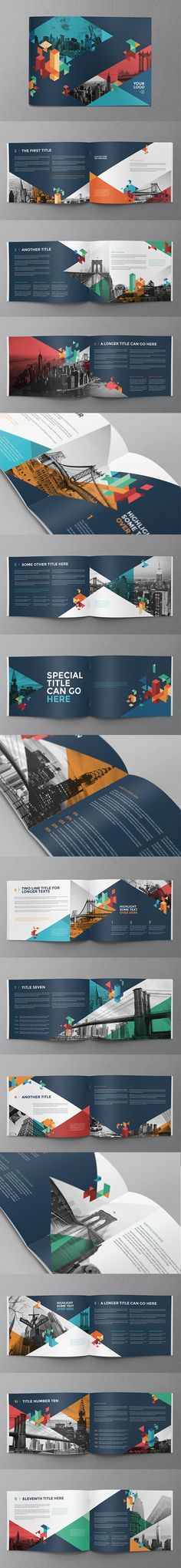 Buy Colorful Blue Brochure by AbraDesign on GraphicRiver. COLORFUL BLUE BROCHURE This brochure is an ideal way to showcase your properties. It is a horizontal design, availabl. Design Brochure, Booklet Design, Brochure Layout, Brochure Template, Corporate Design, Corporate Brochure, Web Design, Layout Design, Creative Design