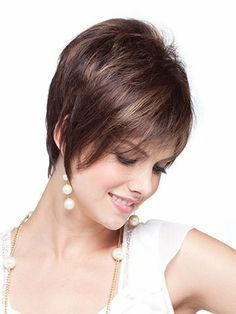 Noriko Jessie Synthetic Wig | VogueWigsJessie by Noriko is a striking asymmetrical bob with heavily razored layers and monofilament cap construction.