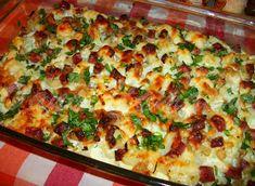 Cooking with love ! : CONOPIDA ALLA CARBONARA -DUKAN (BAKED CAULIFLOWER ALLA CARBONARA -DUKAN) Dukan Diet Recipes, Baked Cauliflower, Hawaiian Pizza, Vegetable Pizza, Lasagna, Baking, Vegetables, Ethnic Recipes, Food