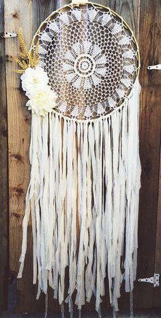 Floral Gold & Off White Gypsy Shabby Chic Boho by Unicorns4Evaa ETSY