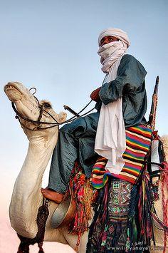 Targe with camel Desert Sahara, Tuareg People, Desert Art, Visit Egypt, Military Diorama, Fantasy Costumes, North Africa, People Around The World, Islamic Art