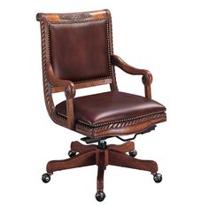 Napa Leather Office Chair by Aspenhome at Baer's Furniture Aspen House, Chair Pictures, Tufted Chair, Home Office Chairs, Desk Office, Napa Leather, Executive Chair, Home Furniture, Paint Furniture