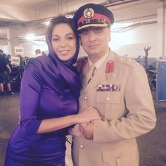 Tyrant Season 2 FX Channel USA  Moran Atias (Leila Al-Fayeed) and Peter P.olycarpou (Colonel Mahmoud Al-Ghazi)