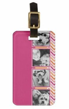 Instagram Photo Collage Custom Luggage Tag $10.95