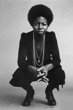 Nina Simone. The one and only, and a voice that was pure soul. Love.