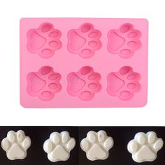 6-Cat's Paw Silicone Ice Cube Chocolate Cake Cookie Cupcake Soap Molds Mould #ESTONE