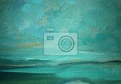 Wall Mural sea landscape oil on a canvas,  illustration, painting