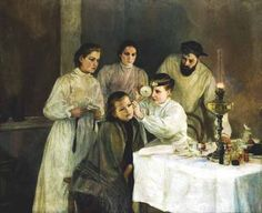 Scene in a Russian Hospital The Ear Inspection by Emily Shanks - Reproduction Oil Painting Medical Pictures, Medical Art, Medical History, Most Famous Paintings, Russian Painting, Call Art, Sick Kids, Oil Painting Reproductions, Art Uk