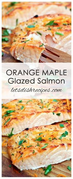 Orange Maple Glazed Salmon