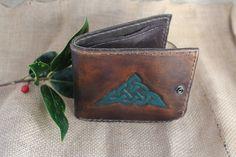 Handmade Leather Wallet Celtic/ Men's wallet handmade Handmade Leather Wallet, Celtic Designs, Belts, Carving, Men, Wood Carvings, Sculptures, Guys, Printmaking