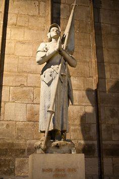 Joan of Arc. Notre Dame. Paris.
