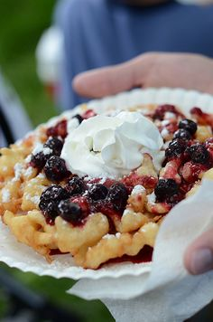 Food to be purchased at the fourth of July festival