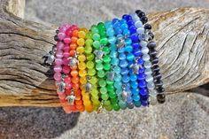 Individual Beach Glass Bracelet