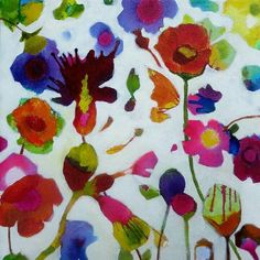 """Chris Cozen - floral. 12""""x12"""""""