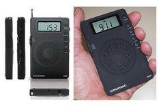 Cette mini radio pourra vous accompagner partout car elle tient dans la main, et pèse moins de 100 grammes. Mais c'est loin d'être un gadget. Elle reçoit les ondes courtes, peut servir de radio-réveil, et est fabriquée par Etón,l'un des constructeurs les plus réputés au monde.