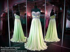 Mint Sweetheart Chiffon Prom Dress