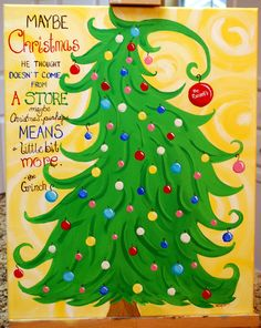 Custom+Christmas+Grinch+Tree+Holiday+Dr+Suess+by+TheCreatorsCanvas,+$85.00