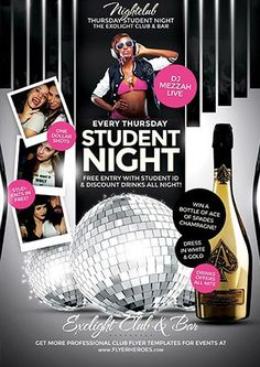 Student Night Flyer Template Download the best party flyer templates for club, party and music events - Club and party flyer design FFFLYER.com