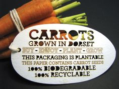 Sustainable packaging at its finest Biodegradable Packaging, Biodegradable Products, Bournemouth, Carrot Seeds, Cardboard Packaging, Food Packaging Design, Packaging Ideas, Aquaponics, Sustainable Design