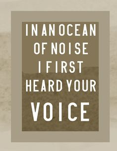 Ocean of Noise, Arcade Fire 8x10 Print on Etsy, $13.00