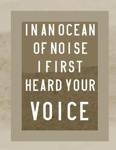 Ocean of Noise, Arcade Fire 8x10 Print on Etsy, $13.00