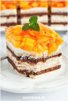 Ciasto z mango bez pieczenia - I Love Bake Fruit Recipes, Dessert Recipes, Nutella, Tiramisu, Delicious Desserts, Food To Make, Ale, Mango, Cheesecake