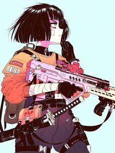 Vintage Illustration Art, Japon Illustration, Illustration Art Drawing, Art Anime Fille, Anime Art Girl, Anime Girls, Arte Do Kawaii, Anime Kawaii, Pretty Art