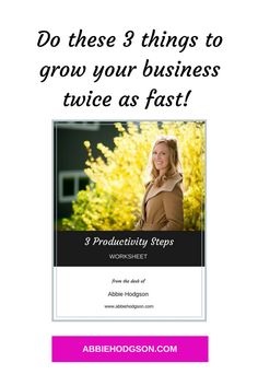 Do you want to supercharge your productivity? Use my strategic and proven 3 Productivity Steps to move you and your business forward starting now! Check out the blog http://abbiehodgson.com/index.php/blog-post-1/