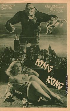 KING KONG (1933) pressbook cover